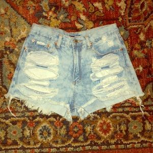 Forever21 distressed jean shorts